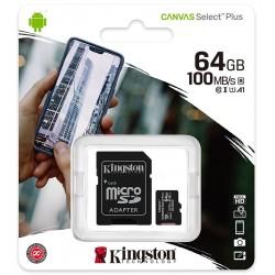 micro-sd-card-64go-sdcs264gb-canvas-kingston-incl